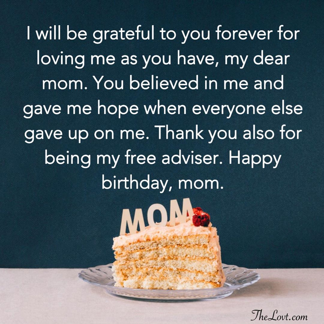 Sincere Birthday Wishes For Mom