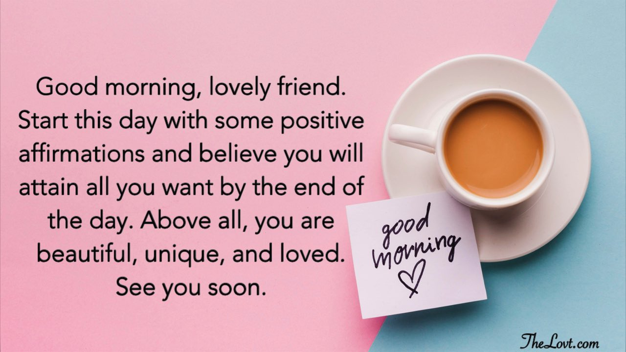 Heart Touching Good Morning Messages for Friends